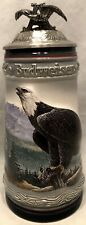 Vintage 1991 Anheuser-Busch Birds of Prey, American Bald Eagle Lidded Beer Stein