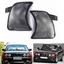 Pair Smoke Corner Lights Turn Signals For BMW 5 Series E34 Sedan Wagon 89-95