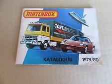 522G Matchbox Catalogue 1979 Of 80 Pages 13,6 X 10,6 CM Market Dutch