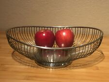 Leonard Silver Plated Open Wire Oval Basket Vintage (A6)