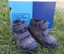 New Stride Rite Boy's Boots Rugged Ritchie 2 Dark Brown Leather Sz 6.5 W Hiking