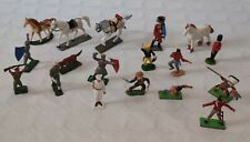 LOT SOLDATS COW BOYS INDIENS CHEVALIERS STARLUX BRITAINS DEETAIL CLAIRET TIP TOY