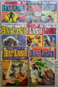 BAT LASH #1 thru 7 & SHOWCASE #76. 1968. Complete run. Nick Cardy. All near-mint