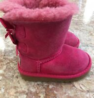 UGG  Australia Toddler Bailey Pink Bow Boots Size 2 S/N 3280