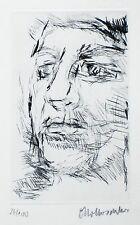 """Oskar Kokoschka. """"Olda"""" Originalradierung 1972"""