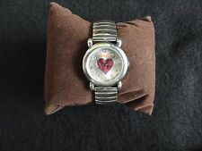 "Mudd Quartz Ladies Watch - ""Heart"" in the center of the dial"