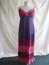 Ladies Dress - Evie, size 14/42, purple/red/peach, long, sundress, used - 2111