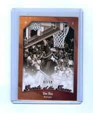 GLEN RICE 2010 GREATS OF THE GAME #82 GOLD 7/50