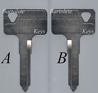 Replacement Key Blank Fits 1997 1998 1999 2000 2001 89 Kawasaki KLR 250 KLR250