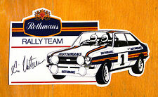Rothmans Rally Team Escort Mk2 (Ari Vatanen) Motorsport Sticker Decal
