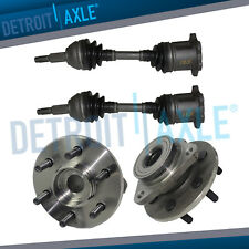 97-99 Dodge Dakota Durango Front CV Axle Shafts & Front Wheel Bearing Hub Set