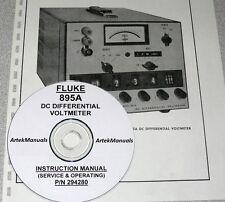 FLUKE 895A  Volmeter Instruction (Ops & Serv) Manual