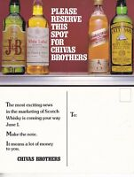 SAVE A SPOT FOR CHIVAS BROTHERS WHISKY ADVERTISING UNUSED COLOUR POSTCARD (b)