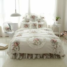 Bedding Set Three-dimensional Flower Print Duvet Cover Ruffle Bed Sheet Princess