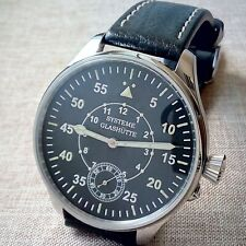 Men's SYSTEME GLASHUTTE, Old Movement of Pocket Watch, steel case Military style