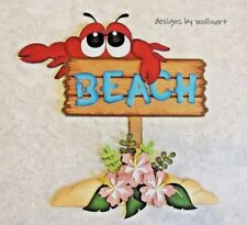 Summer Beach Sign ~ Die Cut Paper Piecing Scrapbook Embellishment wollinart
