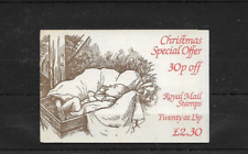 Gb 1984 Christmas Folded £2.30 Booklet Fx7
