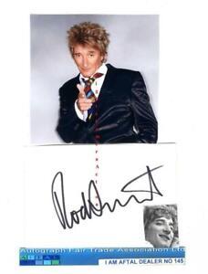 Sir Rod Stewart vintage signed page, AFTAL#145