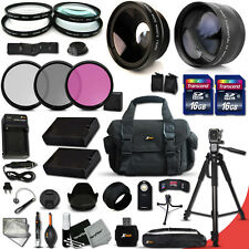 Ultimate 32 Piece Accessory Kit for Nikon D5500 w/ Lenses +32GB Mmry +Case +MORE