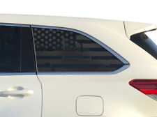 Distressed USA American Flag Decal  Fits Toyota Highlander worn Rear windows QS7