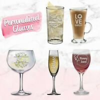 Personalised Glass Engraved Mothers Day Gift Your Own Message Mum Gift Idea