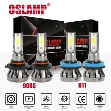 4PCS Combo 9005+H11 White 6000K LED Headlight Bulb Kit 3000W 450000LM Hi-Lo Beam