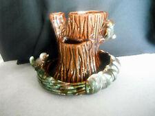Vintage Haeger Pottery Tree Trunk & Birds Vase 3 Opening Planter Marked 3537