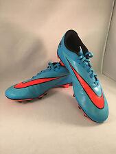 Nike Cleats Size 12 Men's Blue Orange Soccer Hypervenom