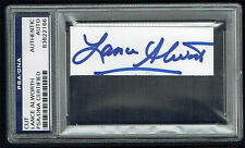 Lance Alworth signed autograph 1x3.5 cut Football Hall of Fame PSA Slabbed