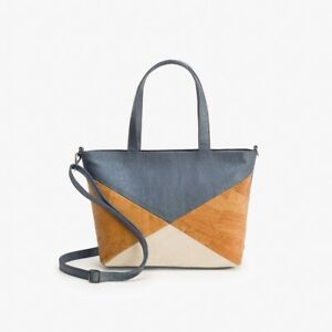 ARTELUSA ® Kork Schultertasche Shopper Handtasche Damen Korkleder blau 30x24
