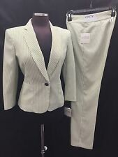 "KASPER PANT SUIT/SEER SUCKER/HONEY DEW MULTI/INSEAM 32""/SIZE 14/RETAIL$240/"