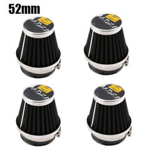 4x 52mm Intake Refit Air Filter Cleaner Clamp-on Fit for Motorcycle Scooter ATV