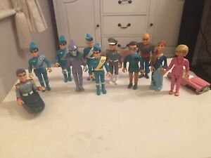 Vintage Thunderbirds Action Figures Matchbox Job Lot, Good Used Condition.