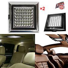 2 x Bright 42 LED Car Van Vehicle Caravan Roof Ceiling Interior Light Lamp 12V