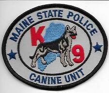 STATE POLICE  K-9  Maine  new style  DHF Patch Polizei Abzeichen Hundeführer USA