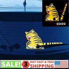 Waterproof Cat With Wagging Tail Funny Car Window Rear Windshield Wiper Sticker