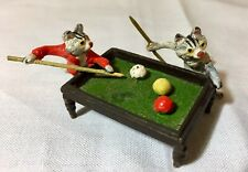 Austrian Miniature Vienna Bronze Cold Painted Cats Playing Pool/ Billiards