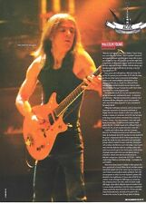 AC/DC Malcolm 'adds rythm'  magazine PHOTO/Poster/clipping 11x8 inches
