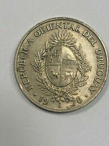 1970 Uruguay 50 Pesos Coin #477