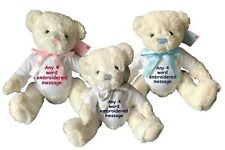 Personalised Soft Teddy Bear Baby Birth Details Birthday Newborn Girl Boy Gift