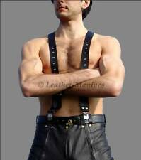 New REAL LEATHER suspenders braces for leather trousers