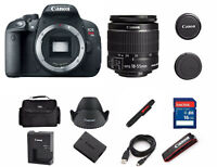Canon EOS Rebel T5i EF-S 18-55MM LENS DSLR Digital Camera (2 LENSES Bundle)