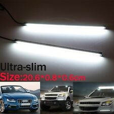 2x20.3CM Ultra-slim Car COB LED Lights DRL Fog Driving Lamp Waterproof DC 12V US