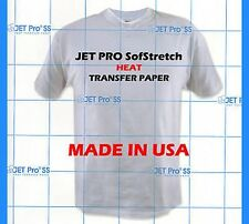 "JET-PRO SofStretch inkjet Heat Transfer Paper 8.5"" x 11""  25 Sheets Pack :)"