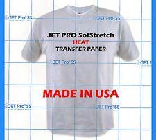 "Inkjet Heat Transfer Paper Iron On Jet-Pro SS Sofstrech 8.5"" x 11"" 100 SHEETS"
