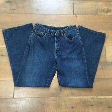 TALBOTS PETITES STRETCH Blue Jeans Boot Cut Light Stretch Womens 6 Waist 28""