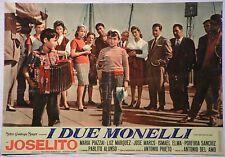 Fotobusta I DUE MONELLI 1961  JOSELITO, MARIA PIAZZAI, LUZ MARQUEZ dis.NANO MGM