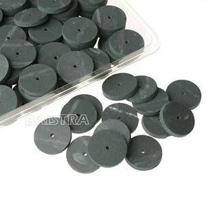 100 PCs/1 Box Dental Lab Rubber Polishing Wheels Burs Silicone Polishers Green