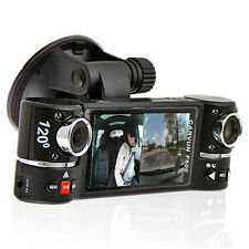 "2.7"" LCD DashCam Dual Camera Rotated Lens Car DVR Recorder Great For UBER Driver"