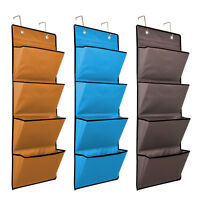 4 TIER OVER THE DOOR HANGING HOOKS ORGANISER STORAGE POCKETS WARDROBE UNIT